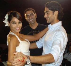 Sandip and Bipasha shooting for a FA deo commercial.
