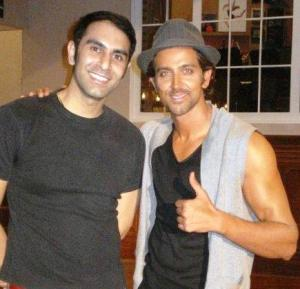 Sandip and Hrithik take a break from shooting for Kites