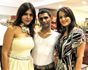 Nisha JhamVwal, Captain Vinod Nair & Tulip Joshi